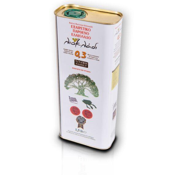 Oliwa z oliwek extra virgin Liocladi premium puszka 1,5l 0,3%   Kolebka Smaku