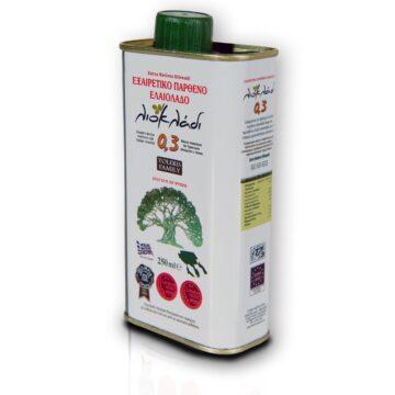 Oliwa z oliwek extra virgin Liocladi premium puszka 250 ml 0,3% | Kolebka Smaku