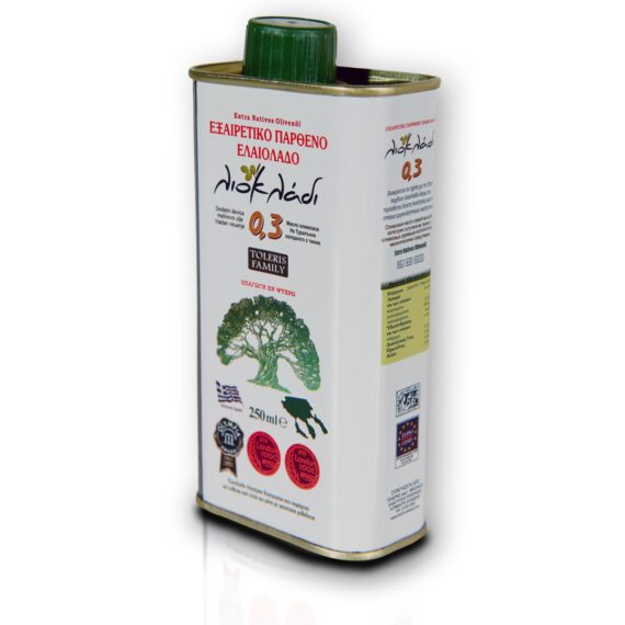 Oliwa z oliwek extra virgin Liocladi premium puszka 250 ml 0,3%   Kolebka Smaku