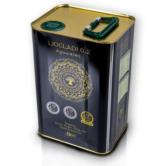 Oliwa z oliwek extra virgin Liocladi premium puszka 3L 0,2%   Kolebka Smaku