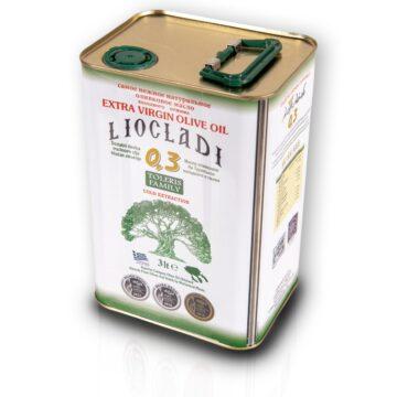 Oliwa z oliwek extra virgin Liocladi premium puszka 3000 ml 0,3% | Kolebka Smaku