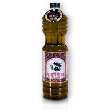 Organiczna oliwa z oliwek extra virgin premium butelka pet 1L Monteoliva | Kolebka Smaku
