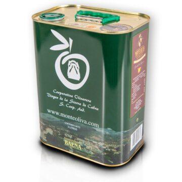 Oliwa z oliwek extra virgin Monteoliva puszka 3L PREMIUM D.O.P. BAENA | Kolebka Smaku