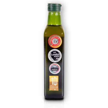 Organiczna oliwa z oliwek extra virgin niefiltrowana premium butelka szklana 250 ml Monteoliva | Kolebka Smaku