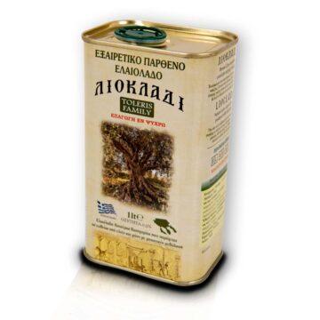 Oliwa z oliwek extra virgin Liocladi puszka 1 litr 0,5% | Kolebka Smaku