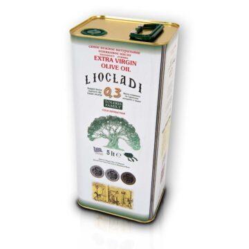 Oliwa z oliwek extra virgin Liocladi premium puszka 5000 ml 0,3% | Kolebka Smaku