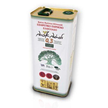 Oliwa z oliwek extra virgin Liocladi premium puszka 5000 ml 0,3%   Kolebka Smaku