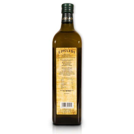 Oliwa z oliwek extra virgin Liocladi szklana butelka 1l 0,5%   Kolebka Smaku