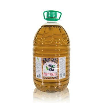 Organiczna oliwa z oliwek extra virgin filtrowana butelka pet 5L Monteoliva   Kolebka Smaku