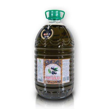 Organiczna oliwa z oliwek extra virgin niefiltrowana premium butelka pet 5L Monteoliva | Kolebka Smaku