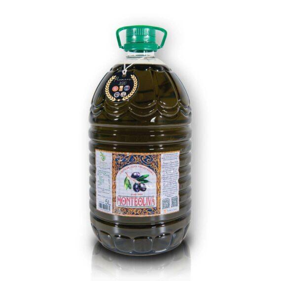 Organiczna oliwa z oliwek extra virgin niefiltrowana premium butelka pet 5L Monteoliva   Kolebka Smaku