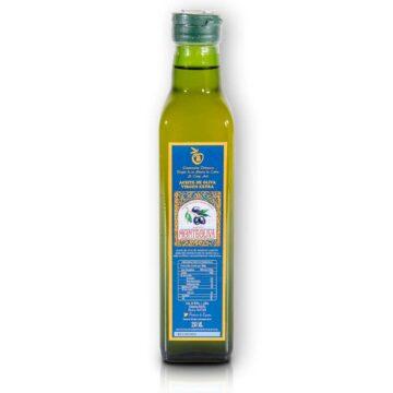Organiczna oliwa z oliwek extra virgin filtrowana butelka szklana 250 ml Monteoliva | Kolebka Smaku